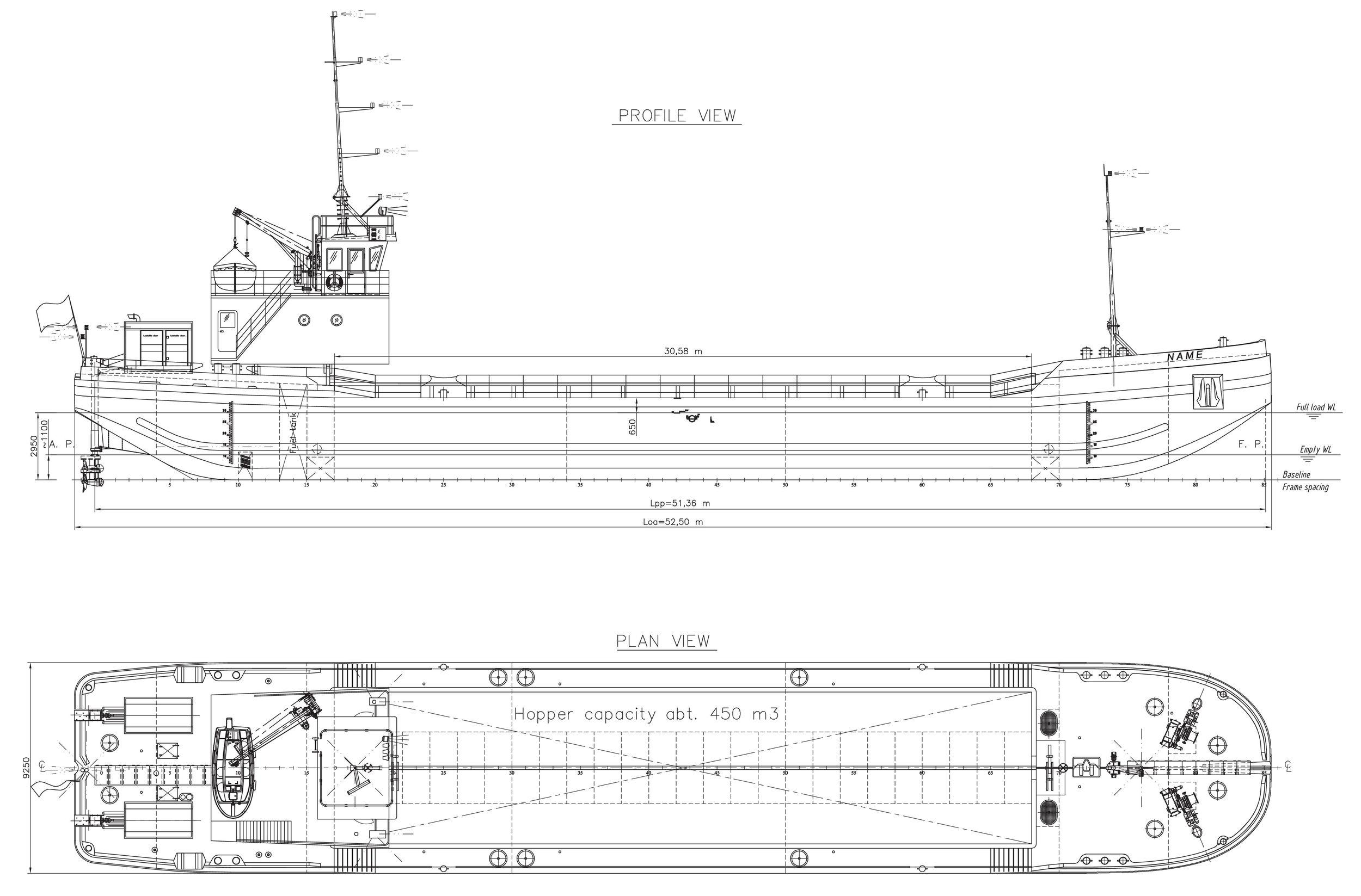Splitbarge 450 m3 self-propelled